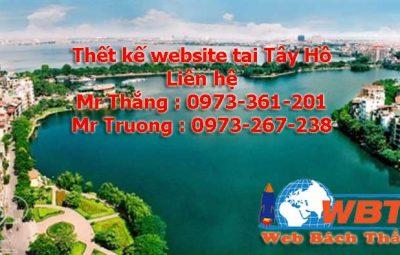 thiết kế website tại tây hồ chuyên nghiệp chuẩn seo