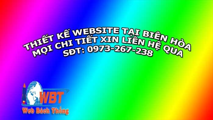 Thiết kế website tại Biên Hòa chuẩn Seo