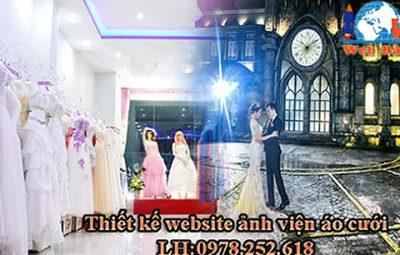 thiết kế website ảnh viện áo cưới