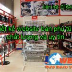 Thiết kế website bán phụ tùng ô tô, linh kiện điện tử giá rẻ