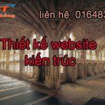 Thiết kế website kiến trúc chuyên nghiệp, uy tín và giá rẻ