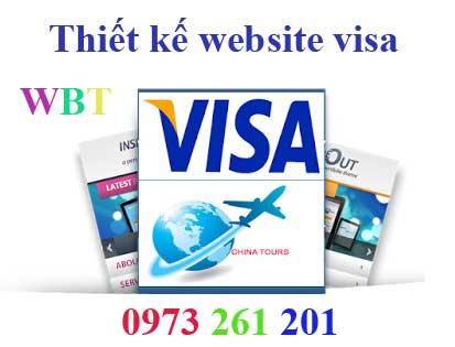 thiết kế website làm visa