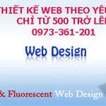Thiết kế website theo yêu cầu đẹp uy tín nhất Hà Nội