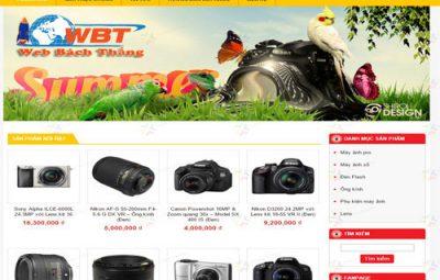 thiết kế website mua bán máy ảnh