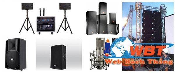 Thiết kế website âm thanh thiết bị ánh sáng