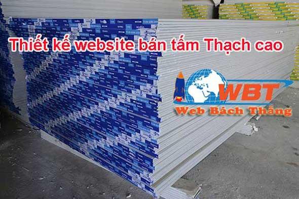 Thiết kế website bán Tấm thạch cao