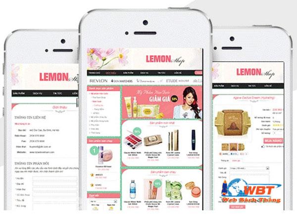 làm website shop kinh doanh mỹ phẩm