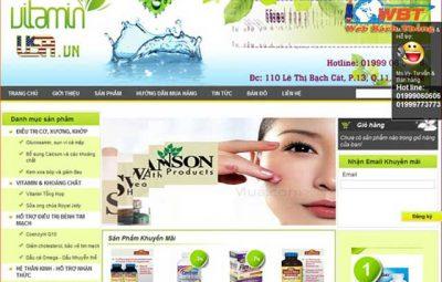 thiết kế website thực phẩm chức năng