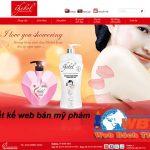 Thiết kế website bán mỹ phẩm online uy tín đẹp mắt