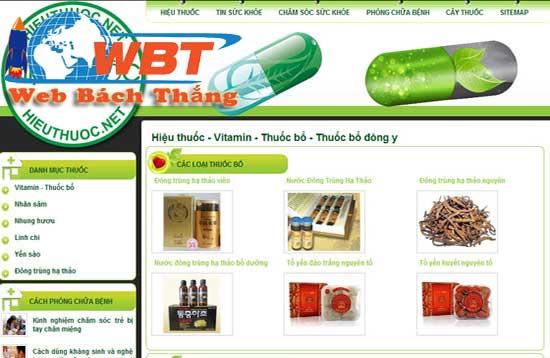 thiết kế website nhà thuốc đông y