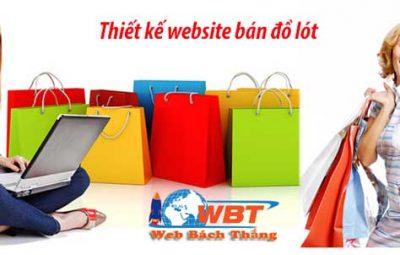 Thiết kế website bán đồ lót