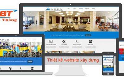 Thiết kế website xây dựng công trình
