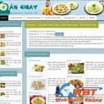 Thiết kế website bán đồ ăn chay – Quán ăn chay chuyên nghiệp