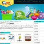 Dịch vụ thiết kế website bán đồ nhựa- shop đồ nhựa online