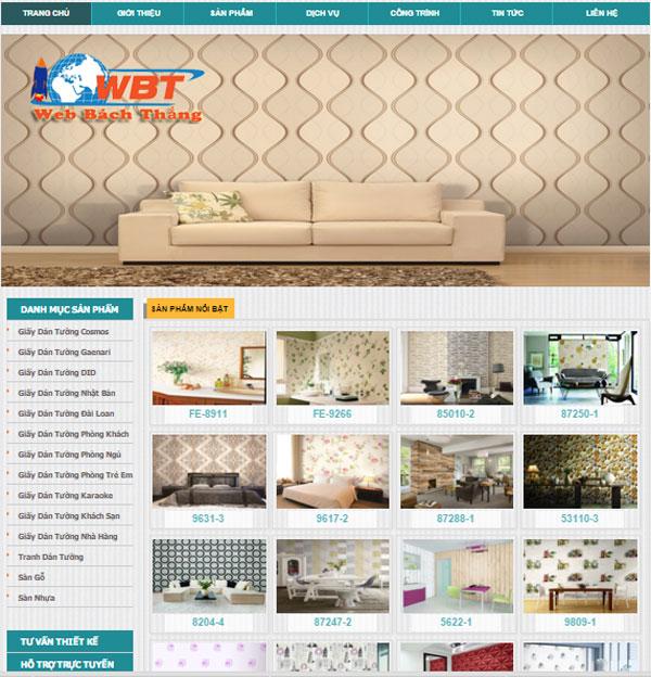 Thiết kế website bán giấy dán tường