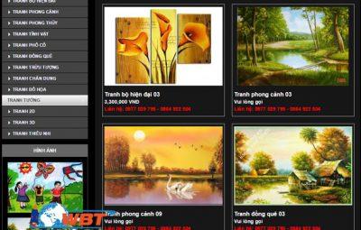 Thiết kế website bán khung tranh giá rẻ chuẩn seo
