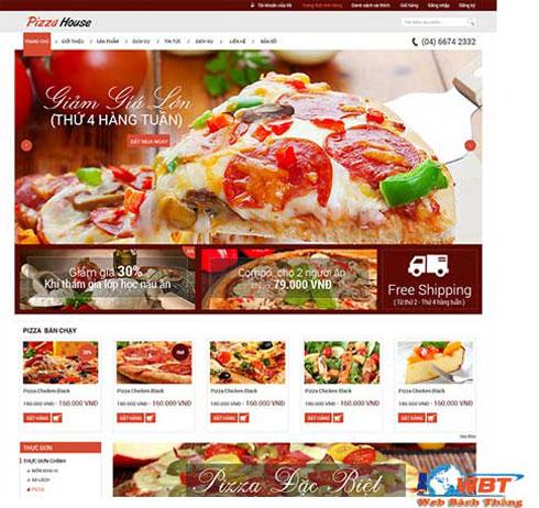 Thiết kế website bán bánh pizza