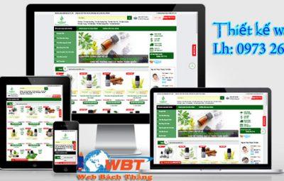 Thiết kế website bán tinh dầu