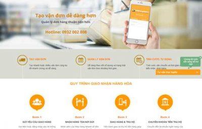 Thiết kế website vận chuyển hàng hóa