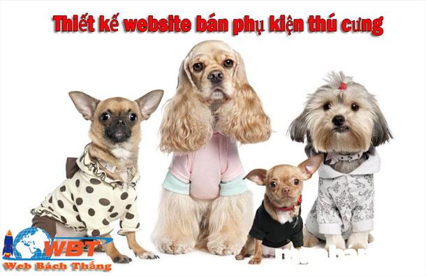 Thiết kế website bán phụ kiện thú cưng giá rẻ