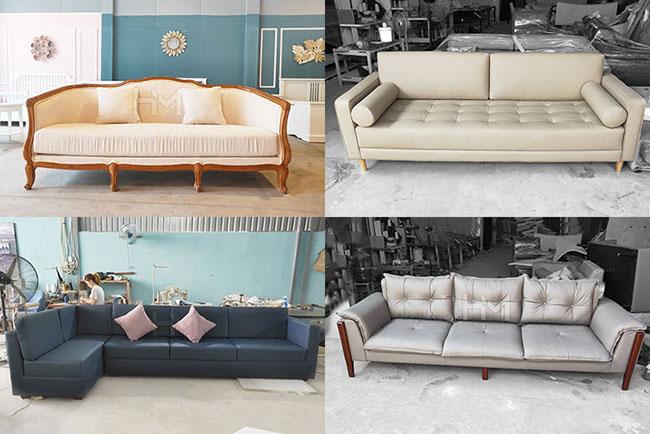 ảnh xưởng sofa HM