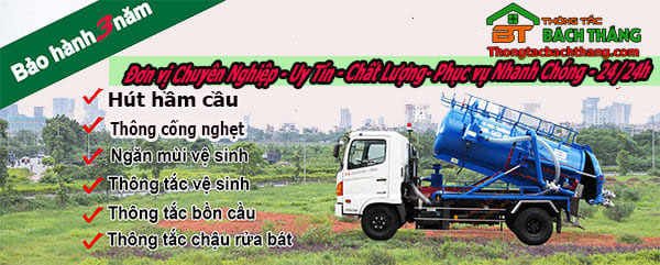 Dịch vụ thông công nghẹt Bình Thạnh tại bách thắng CN BT