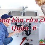 Thông bồn rửa chén quận 6 uy tín, giá rẻ, chuyên nghiệp nhất Sài Gòn gọi là có mặt ngay
