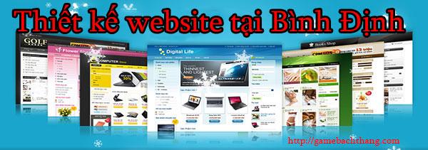 Thiết kế website tại Bình Định giá rẻ BT game