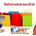 Thiết kế website shop bán đồ lót online giá rẻ