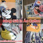 Bảng Giá In Áo Cotton Tốt Đảm Bảo Chất Lượng – Game BT